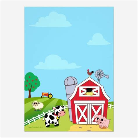 barnyard card template search results for printable birthday card template