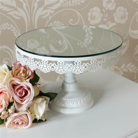 shabby chic cake stand ivory shabby mirror cake stand vintage wedding chic