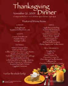 thanksgiving dinner menu traditional vernon downs casino hotel amp racing news november 2009