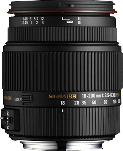 Sigma 18 200mm Canon sigma 18 200mm f 3 5 6 3 ii dc os hsm standard zoom lens