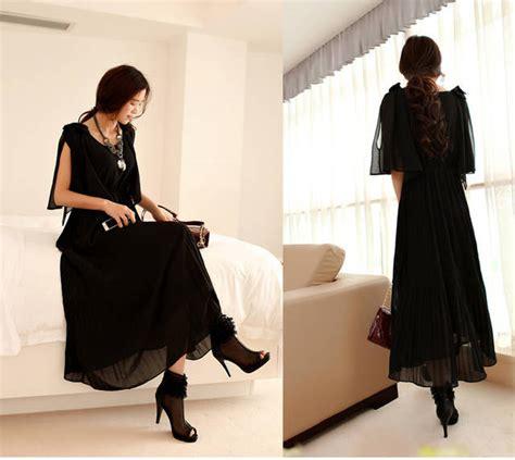 Dress Hitam Longdress Mini Dress Dress Wanita dress terbaru holidays oo