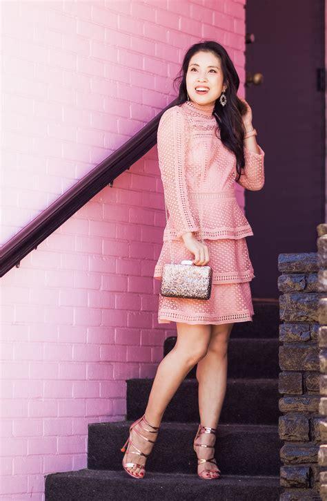 Crochet Pink Dress pink crochet dress for valentines fashion style