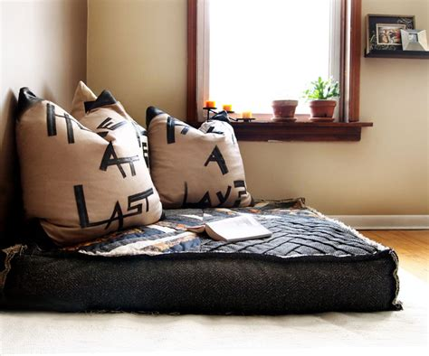 floor cushion living room custom organic buckwheat oversized floor cushion