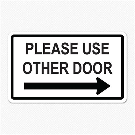 Safety Door Designs by Please Use Other Door Decal Decals For Doors