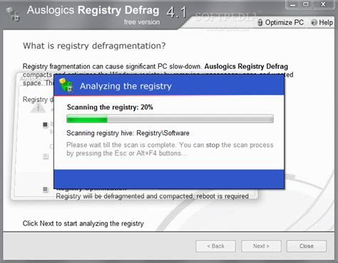 registry defrag todo software haz que el registro de windows funcione