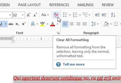 Remove Layout Word | how do you remove formatting in word 2013 solve your tech
