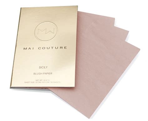 Mai Couture Blush Papier Montecito paper make up from mai couture wgsn insider