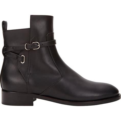 balenciaga leather jodhpur ankle boots in black lyst