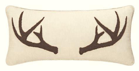 sleepy forest deer antler pillow