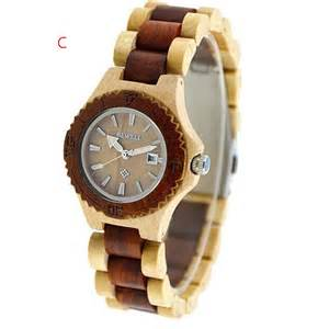 bewell wood wristwatch wooden date time