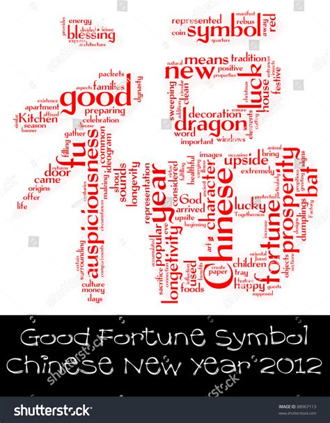 auspicious word for chinese new year 2012 new year info text word cloud composed within the shape of