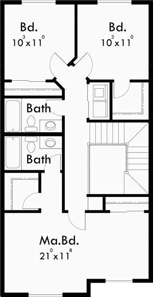 5 bedroom house plans narrow lot narrow lot house plan 22 ft wide house plans 3 bedroom 2