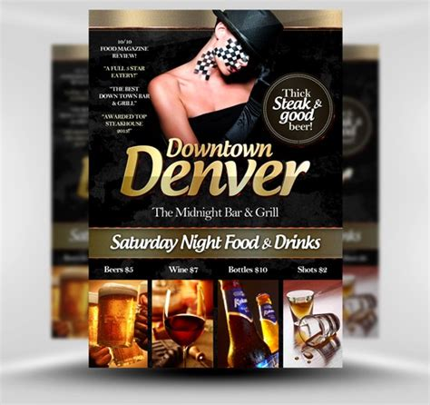 bar flyer templates free postcard flyers