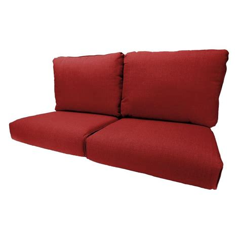 outdoor loveseat cushion hton bay woodbury chili replacement outdoor loveseat