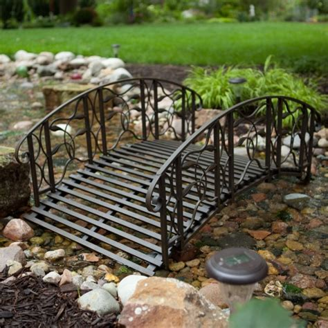 backyard bridges coral coast willow creek 4 ft metal garden bridge