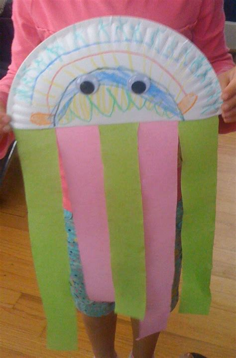 How To Make Jellyfish With Paper Plates - gluten free allergy friendly craft complete diy
