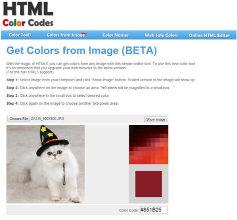 find color code from image simple hex code tool essential designs