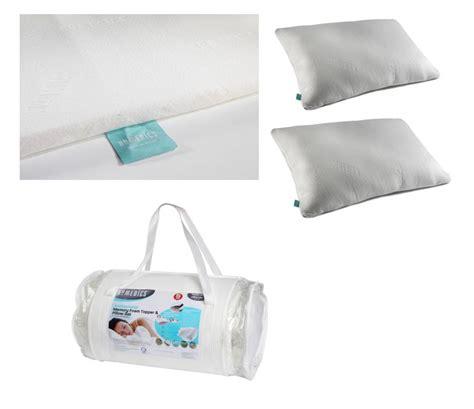 homedics antibacterial memory foam king 2 5 cm topper 2