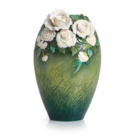 Franz Vase Collection by Franz Porcelain Collection Gogh White Roses Vase