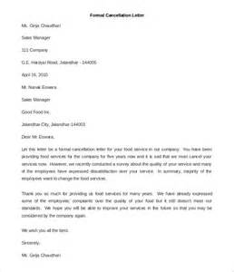 Membership Cancellation Letter Sample Free 23 Best Formal Letter Templates Free Sample Example