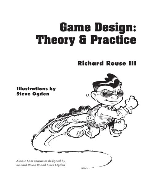 game design theory game design theory and practice