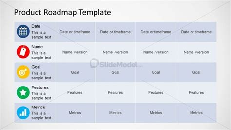 6372 01 Product Roadmap Template 4 Slidemodel Product Roadmap Template Powerpoint