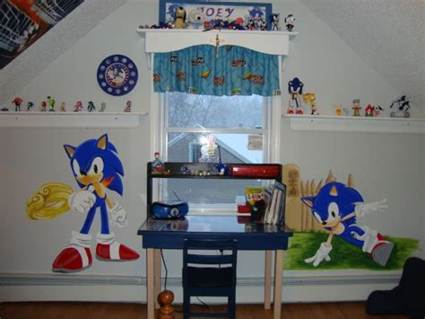 sonic the hedgehog wallpaper for bedrooms sonic the hedgehog mural my lil bro would love this kids