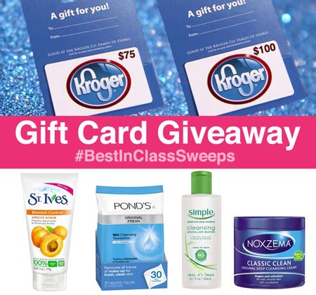 Victoria Secret Gift Card Kroger - win 75 or 100 kroger gift card best in class giveaway