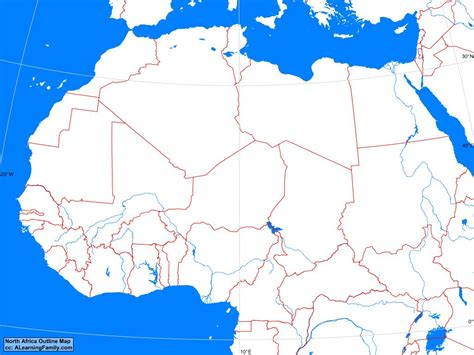 northern africa map africa africa outline map a learning family