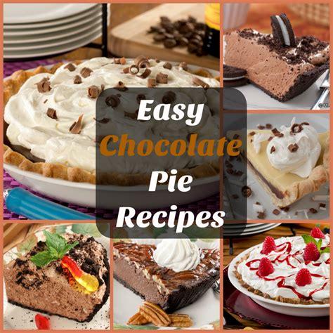 easy chocolate pie recipes top 10 recipes for chocolate pie mrfood com