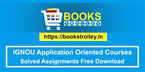 Ignou Mba Finance Books Free by Free Ignou Application Oriented Courses Solved Assignments