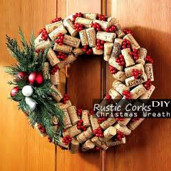 easy art and craft ideas for home decor rustic cork christmas wreath easy amp cool homemade diy