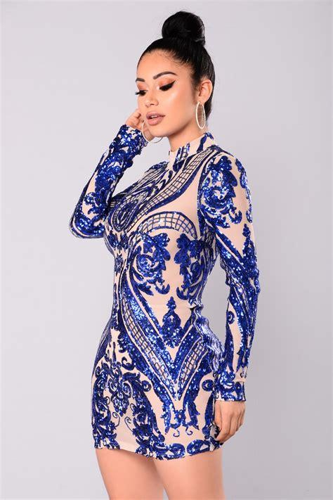 Talinta Dres talitha sequin dress royal