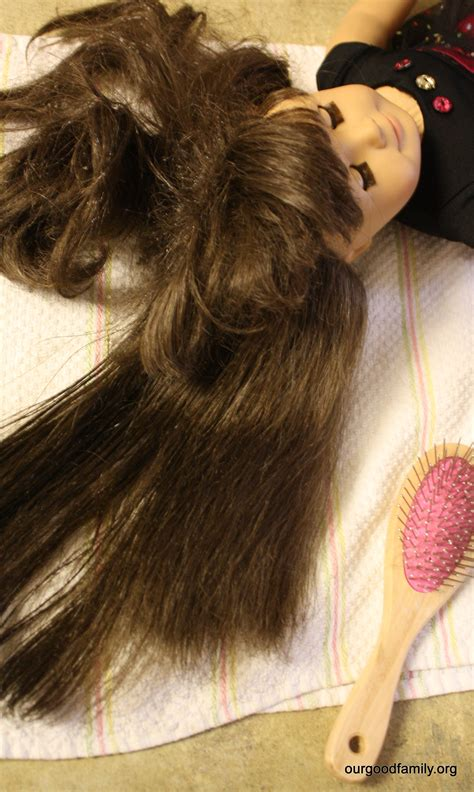 how to comb my girl doll hair hairbrush hairstyle dolls how to untangle and manage american girl doll hair our
