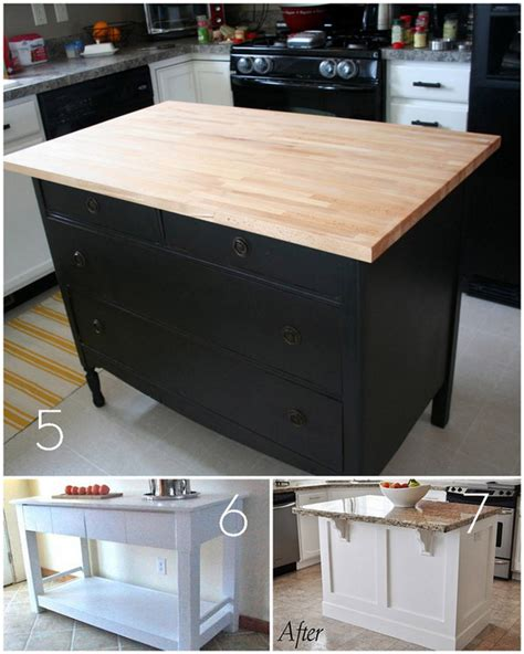 build kitchen island table roundup 12 diy kitchen tables islands and cupboards you