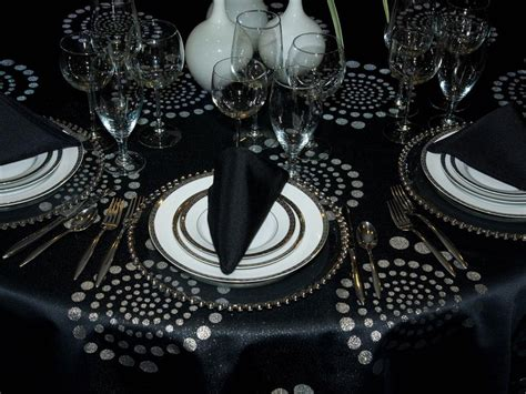 black and silver table ls 30 best images about weddings metallic on