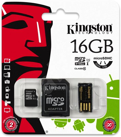 Micro Sd Kingston 16gb Class 10 kingston micro sdhc 16gb class 10 sd adapter 233 s usb
