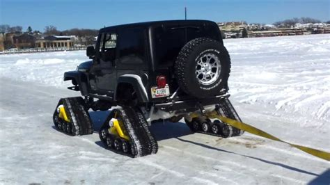 jeep snow tracks jeep rubicon with tracks in snow youtube