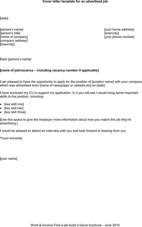 general cover letter template for excel pdf and word