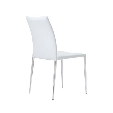 white faux leather dining chair siena dining chair white faux leather set of 4