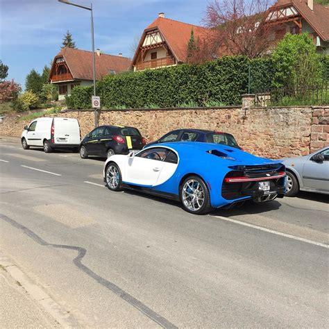 blue bugatti blue and white bugatti chiron spotted testing