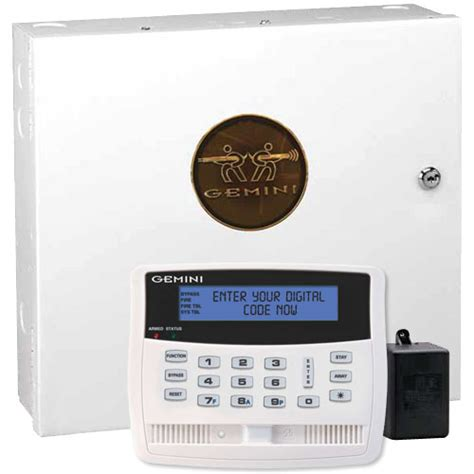 napco gemini p1664 security system kit with talking keypad