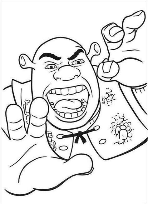 Printable Shrek Coloring Pages Coloring Me Shrek Coloring Page
