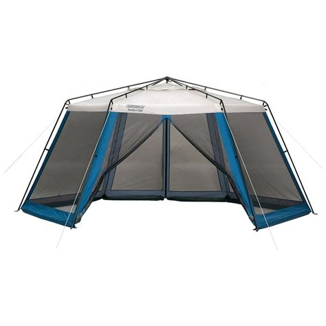coleman screen house with awnings coleman 174 insta clip 16x14 screenhouse 157531 screens