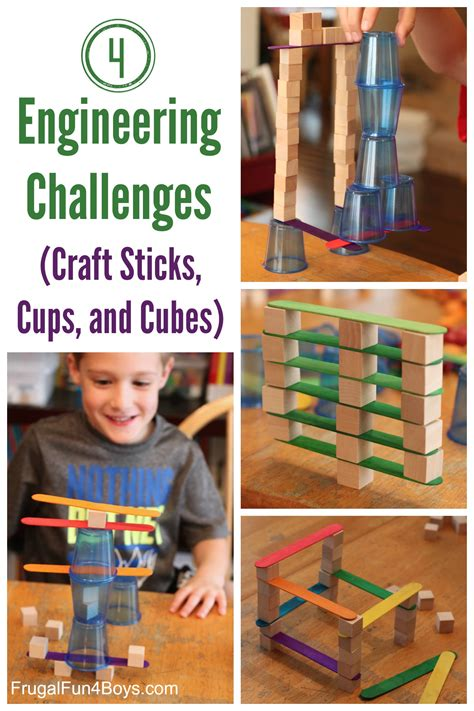 challenges for 4 engineering challenges for cups craft sticks and