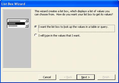 design view adalah ilmu software membuat list box microsoft access dengan wizard