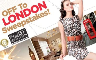 Saks Fifth Avenue Sweepstakes - saks fifth avenue off 5th off to london sweepstakes