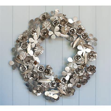Catalog Shopping Home Decor metal flower wreath silver christmas decorations