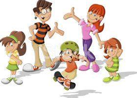 ciudad feliz diversion para los ni 195 177 os netlima com familia de dibujos animados vectores en stock clipart me