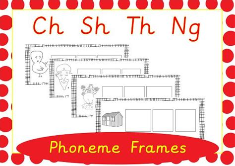 Frame Ch 3502 O phoneme frames to practice using ch sh the and ng available on epicphonics phonics